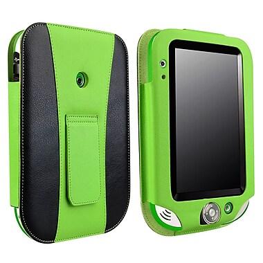 Insten PLPFLEAPLC03 Synthetic Leather Folio Case for LeapFrog LeapPad Ultra, Black/Green