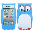 Insten® Pastel Silicone Skin Cover For Apple iPhone 4/4S, Blue Owl