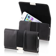 Insten® Leather Pouch For Coolpad/HTC/Splendor US730, Black