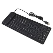 Insten® DOTHXXXXKB04 Foldable USB 2.0 Keyboard, Black