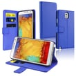 Insten® Leather Case With Stand & Card Slot For Samsung Galaxy Note III N9000, Navy Blue