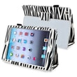 Insten® Leather Case With Stand For Apple iPad Mini 1/2, Black/White Zebra