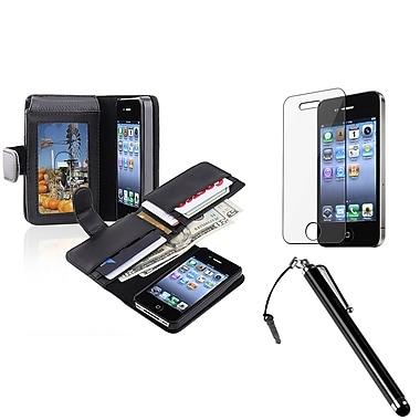 Insten® 1171373 3 Piece Case Bundle For Apple iPhone 4/4S