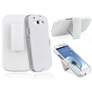 Insten® Holster With Stand For Samsung Galaxy S III/S3, White
