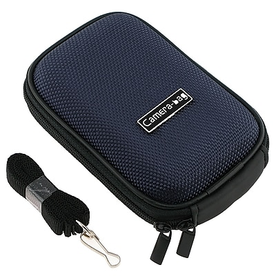Insten Nylon Digital Camera Case For Canon Digital IXUS 70 Dark Blue