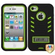 MYBAT™ TUFF Rubber Hybrid Protector Case With Stand F/Apple iPhone 4/4S, Natural Pearl Green/Black