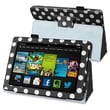 Insten® Leather Case With Stand For Amazon Kindle Fire HD 7in. 2013 Edition, Black/White Dot