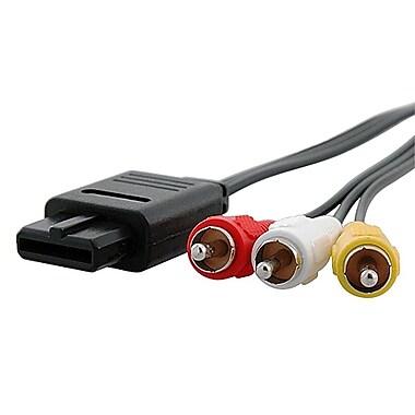Insten® 6' AV Composite Cable For Nintendo 64/GameCube, Black