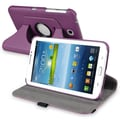 Insten® 360 Deg Swivel Leather Case For 7in. Samsung Galaxy Tab 3 P3200/Kids, Purple