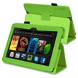 Insten® Leather Case With Stand For Amazon Kindle Fire HDX 7in., Green