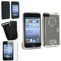 Insten® 247980 4 Piece Case Bundle For Apple iPod Touch 1st/2nd/3rd Gen