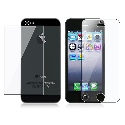 Insten Front Back Reusable Screen Protector For Apple iPhone 5 5S Clear