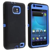 Insten® Rubber Hybrid Case For Samsung Galaxy S II AT&T i777, Blue/Black