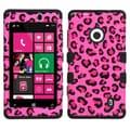 MYBAT™ TUFF Rubberized Hybrid Protector Case For Nokia Lumia 521, Pink Leopard Skin/Black