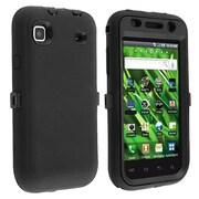 Insten® Silicone Hybrid Case For Samsung Vibrant T959, Black/Black