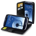 Insten® Leather Case With Credit Card Wallet For Samsung Galaxy S III/S3, Black
