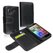 Insten® Leather Case With Card Holder For HTC Sensation 4G, Black