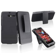 Insten® Swivel Holster With Stand For Motorola Droid Razr M XT907, Black