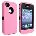 Insten® Silicone Hybrid Case For Apple iPhone 4/4S, Black/Pink