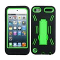Insten® Silicone Protector Case With Symbiosis Stand For iPod Touch 5th Gen, Pearl Green/Black