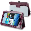 Insten® Leather Case With Stand For 7in. Samsung Galaxy Tab 2, Purple Crocodile Skin