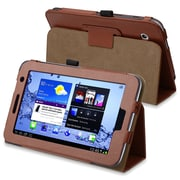 Insten® Leather Case With Stand For 7 Samsung Galaxy Tab 2 P3100/P3110/P3113, Brown