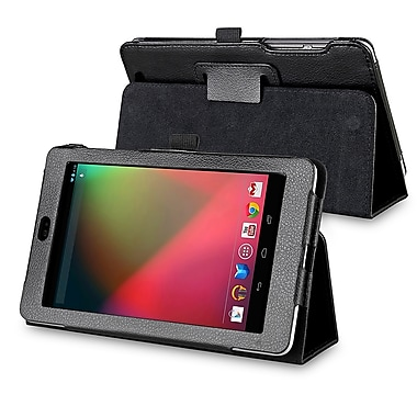 Insten® Leather Case With Stand For Google Nexus 7 2012 Edition, Black
