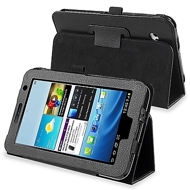 Insten PSAMGLXTLC05 Synthetic Leather Folio Case for Samsung Galaxy Tab 2 7in., Black