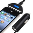 Insten® 3.5 mm FM Transmitter With Car Charger, Black
