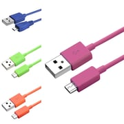 Insten 3' USB Male to Male Universal Cable, Multi Color