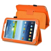 Insten® Leather Case With Stand For 7 Samsung Galaxy Tab 3 P3200/Kids, Orange
