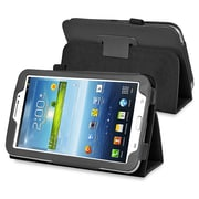 "Insten PSAM3200LC01 Synthetic Leather Folio Case for 7"" Samsung Galaxy Tab 3, Black"