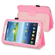 """Insten PSAM3200LC04 Synthetic Leather Folio Case for 7"""" Samsung Galaxy Tab 3, Pink"""