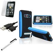 Insten® 1106277 4 Piece Cellphone Case Bundle For HTC EVO 4G