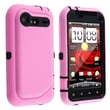 Insten® Silicone Hybrid Case For HTC Droid Incredible 2, Black/Hot Pink Textured