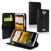 Insten® Leather Case With Credit Card Wallet For HTC One X, Black
