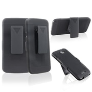 Insten® Rubber Coated Holster With Stand For HTC One X, Black