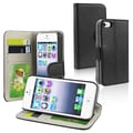Insten® Leather Wallet Case With Card Holder For Apple iPhone 5/5S, Black