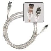 Insten 6' IEEE 1394 Firewire Cable, Translucent