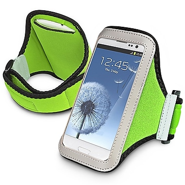 Insten® Sportband For iPhone/BlackBerry/Motorola, Light Green