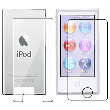 Insten® LCD Front/Back Reusable Screen Protector For Apple iPod Nano 7th Generation, Clear