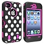 Insten® Silicone Hybrid Case For Apple iPhone 4/4S,