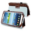 """Insten PSAM3200LC25 Synthetic Leather Folio Case for 7"""" Samsung Galaxy Tab 3, Brown Leopard"""