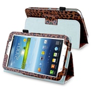 Insten® Leather Case With Stand For 7 Samsung Galaxy Tab 3 P3200/Kids, Brown Leopard