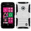 ASYMNA Advanced Protector Case With Armor Stand For Nokia Lumia 521, White/Black