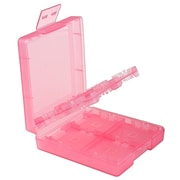 Insten® Hard Plastic 16-In-1 Game Card Case For Nintendo DS/DS Lite/DSi/DSi LL/XL, Light Coral
