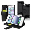 Insten® Leather Case With Card Holder For Apple iPhone 5/5S, Black Crocodile Skin