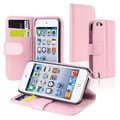 Insten® Leather Wallet Case With Card Holder For iPod Touch 5th Gen, Pink