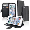 Insten® Leather Wallet Case With Card Holder For iPod Touch 5th Gen, Black
