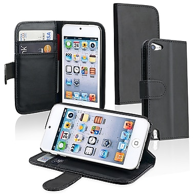 Insten DAPPTOU5LC17 Synthetic Leather Case for Apple iPod Touch 5th Gen, Black